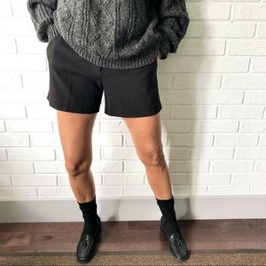 Jacob black flat front dress shorts S